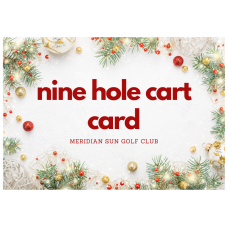 25% Off 9 Hole Cart Value Punch Card (10 x 9 holes)