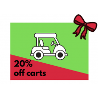 Get 20% Off 9 Hole Cart Value Punch Card (10 x 9 holes)